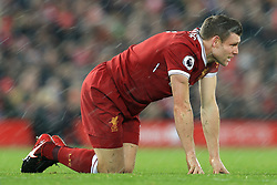 10th December 2017 - Premier League - Liverpool v Everton - James Milner of Liverpool looks dejected - Photo: Simon Stacpoole / Offside.