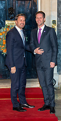 © Licensed to London News Pictures. 03/12/2019. London, UK. Prime Minister of Luxembourg Xavier Bettel (L) arrives in Downing Street as NATO Leaders' gather for a reception hosted by United Kingdom Prime Minister Boris Johnson.<br /> Allied leaders are in London for a NATO summit. The summit also marks NATO's 70th anniversary.<br /> Photo credit: Peter Manning/LNP<br /> <br /> <br /> .