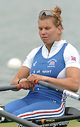 FISA World Cup Rowing Munich Germany..27/05/2004..Thursday morning opening heats...GBR W2X. Elise Laverick [Mandatory Credit: Peter Spurrier: Intersport Images].
