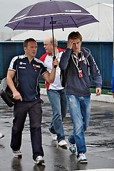 O piloto alemão Sebastian Vettel ao chegar para o Grande Prémio do Brasil de Fórmula 1, em Interlagos, São Paulo. FOTO: Jefferson Bernardes/Preview.com