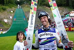Primoz Peterka of Slovenia after Ski Jumping Summer Continental Cup in Kranj and last jump of Primoz Peterka's career, one of the best ski jumpers in history, on July 2, 2011, in Kranj, Slovenia. (Photo by Vid Ponikvar / Sportida)