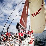 © María Muiña I MAPFRE: Tripulación a bordo del MAPFRE durante un entrenamiento costero. The crew on board MAPFRE during an inshore training.