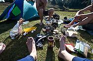 Camp breakfast.