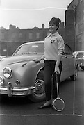 08/02/1963<br /> 02/08/1963<br /> 08 February 1963<br /> Fashions from Todco (now Pennys), Henry Street, Dublin. Model with Jaguar car.