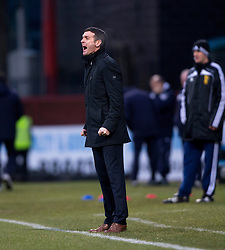 Ross County's manager Jim McIntrye. <br /> Half time : Dundee 0 v 0 Ross County, SPFL Premiership game player 4/1/2015 at Dundee's home ground Dens Park.
