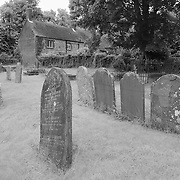 Paradise Gravestones Wide - Avebury, UK - Infrared Black & White