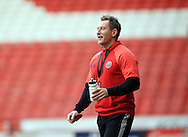 Sheffield United Ladies' manager Dan O'Hearne during the FA Women's Cup First Round match at Bramall Lane Stadium, Sheffield. Picture date: December 4th, 2016. Pic Clint Hughes/Sportimage