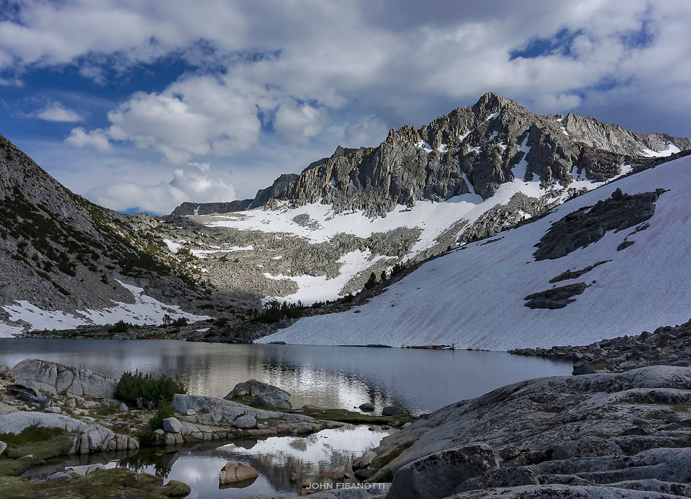 One of the Treasure Lakes above South Lake in the Sierra Nevada Wilderness