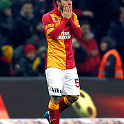 Galatasaray's Emre Colak during their Turkish superleague soccer derby match Galatasaray between Besiktas at the TT Arena at Seyrantepe in Istanbul Turkey on Sunday, 27 January 2013. Photo by Aykut AKICI/TURKPIX
