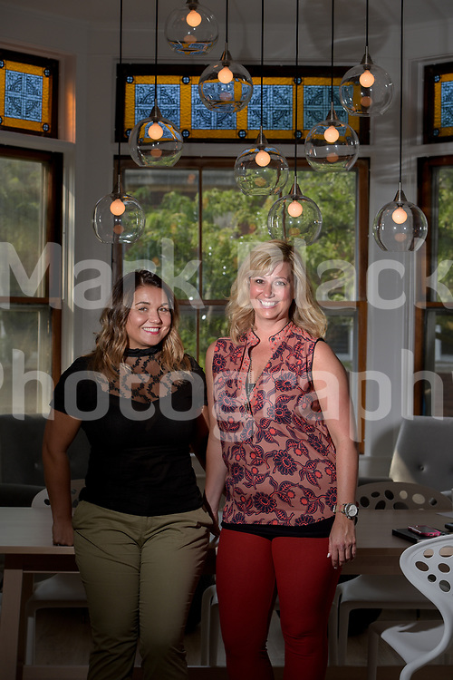 Stacy Amoo-Mensah and Heather Demonte are the owners of Klique Creative, a new co-working space in downtown Naperville.