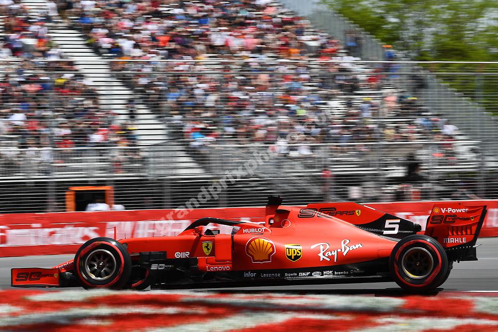 Sebastian Vettel (Ferrari) during practice for the 2019 Canadian Grand Prix in Montreal. Photo: Grand Prix Photo