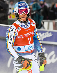 13.11.2016, Black Race Course, Levi, FIN, FIS Weltcup Ski Alpin, Levi, Slalom, Herren, 2. Lauf, im Bild Fritz Dopfer (GER) // Fritz Dopfer of Germany  reacts after his 2nd run of mens Slalom of FIS ski alpine world cup at the Black Race Course in Levi, Finland on 2016/11/13. EXPA Pictures © 2016, PhotoCredit: EXPA/ Nisse Schmidt<br /> <br /> *****ATTENTION - OUT of SWE*****