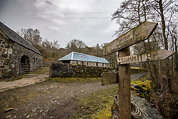 One of the abandoned buildings on the island. Feature on the community on the island of Ulva, who have been awarded £4.4m in funding for their island buyout.