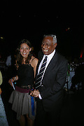 Anna Spry-Leverton and Eric Cross. The Art Party, Tate Modern. a party to raise funds for 'Art for All'. 16 June 2005. ONE TIME USE ONLY - DO NOT ARCHIVE  © Copyright Photograph by Dafydd Jones 66 Stockwell Park Rd. London SW9 0DA Tel 020 7733 0108 www.dafjones.com