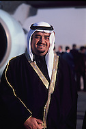Crown Prince Fahd. waits for President Carter  visit to Saudi Arabia (Riyadh) at an airport arrival ceremony on January 3, 1978. photo by Dennis Brack