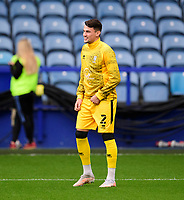 Lincoln City's Regan Poole during the pre-match warm-up<br /> <br /> Photographer Andrew Vaughan/CameraSport<br /> <br /> The EFL Sky Bet League One - Sheffield Wednesday v Lincoln City - Saturday 23rd October 2021 - Hillsborough Stadium - Sheffield<br /> <br /> World Copyright © 2021 CameraSport. All rights reserved. 43 Linden Ave. Countesthorpe. Leicester. England. LE8 5PG - Tel: +44 (0) 116 277 4147 - admin@camerasport.com - www.camerasport.com