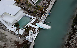 September 14, 2017 - Duck Key, Florida, U.S. - A home in Duck Key sustained significant damage from Hurricane Irma. (Credit Image: © Mike Stocker/Sun-Sentinel via ZUMA Wire)