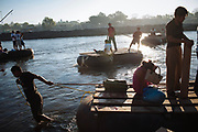 The Suchiate River in the border of Mexico and Guatemala is the black market point between both countries, and also allows the crossing of thousands of Central American migrants who have the goal of reaching to United States, in Ciudad Hidalgo, Mexico, January 24, 2008.