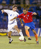 Fotball<br /> EM-kvalifisering<br /> 06.09.2003<br /> Armenia v Hellas<br /> NORWAY ONLY<br /> Foto: Digitalsport<br /> <br /> links: Paraskevas Antzas Griechenland<br /> EM-Qualifikation  Armenien - Griechenland 0:1