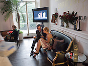 ARION MCNICOLL; DANIELA HEYKES, The Complete History Of Food - Courvoisier and Bompas & Parr transform a townhouse into a food and drink experience exploring gastronomy -  Belgrave Square, London 14 July 2010<br /> <br /> -DO NOT ARCHIVE-© Copyright Photograph by Dafydd Jones. 248 Clapham Rd. London SW9 0PZ. Tel 0207 820 0771. www.dafjones.com.