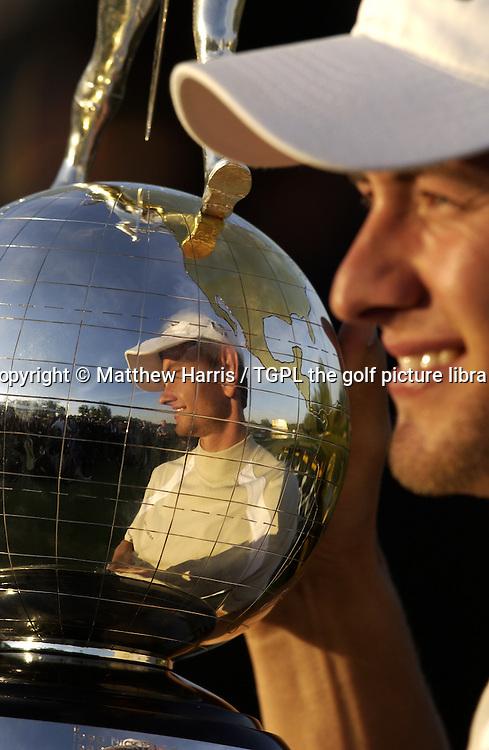 Adam SCOTT (AUS) with trophy during fourth round Johnnie Walker Asian Classic 2005,Pine Valley Resort & Country Club,Beijing,China