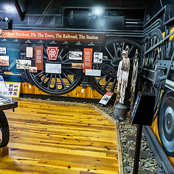 New Freedom, PA – June 25, 2016: The museum at the New Freedom Train Station near PA-MD border.