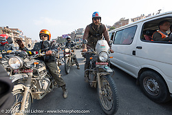 Talk Shop Podcaster Danger Dan riding a Royal Enfield Himalayan in Motorcycle Sherpa's Ride to the Heavens motorcycle adventure in the Himalayas of Nepal. Riding from Daman back to Kathmandu. Wednesday, November 13, 2019. Photography ©2019 Michael Lichter.