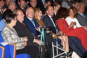 Jarige Maxima opent lustrumcongres Pensioenfederatie in het World Forum, Den Haag. Koningin Maxima viert vandaag haar45e verjaardag.De Pensioenfederatie behartigt de belangen van de Nederlandse pensioenfondsen. <br /> <br /> Queen Maxima opens the anniversary congress Pension Federation at the World Forum, The Hague. Queen Maxima is celebrating today her 45th birthday.De Pension Federation represents the interests of Dutch pension funds.