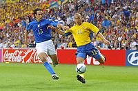 Italy v Sweden - Estadio Dragao, Porto - 18th June 2004<br />Italy's Alessandro Nesta tracks Sweden's Henrik Larsson <br />Photo: Jed Leicester/Sporting Pictures<br />© Sporting Pictures (UK) Ltd<br />www.sportingpictures.com<br />Tel: +44 (0)20 7405 4500<br />Fax: +44 (0)20 7831 7991