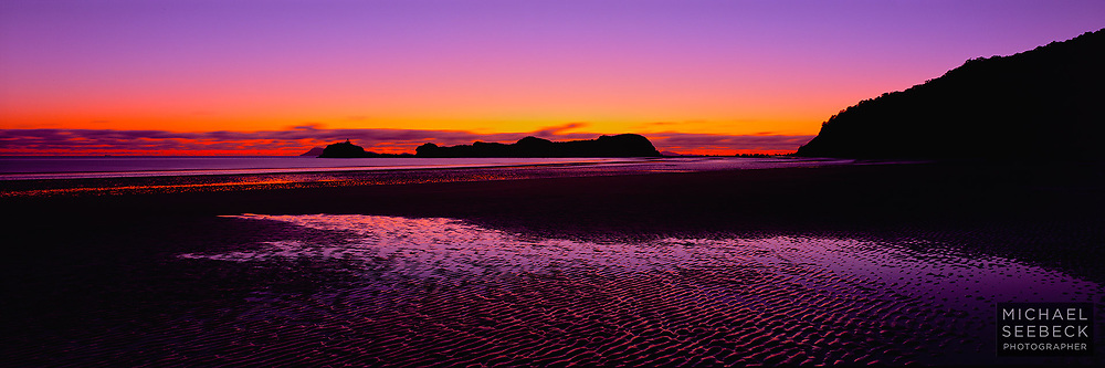 A landscape panoramic photograph of dawn at Cape Hillsbourough.<br /> <br /> LImited Edition Print