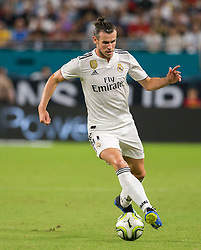 Real Madrid forward Gareth Bale (11) controls the ball during the first half against Manchester United during International Champions Cup action at Hard Rock Stadium in Miami Gardens, FL, USA on Tuesday, July 31, 2018. Manchester United won, 2-1. Photo by Sam Navarro/Miami Herald/TNS/ABACAPRESS.COM