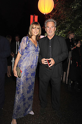TREVOR EVE and SHARON MAUGHAN at the annual Serpentine Gallery Summer Party in Kensington Gardens, London on 9th September 2008.