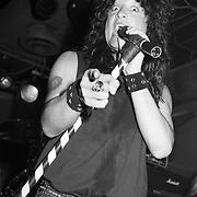 BETHLEHEM - JULY 25: Singer Kevin DuBrow of Quiet Riot performs at DJ's Pub on July 25, 1991, in Bethlehem, Pennsylvania. ©Lisa Lake