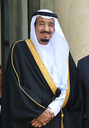 File photo - Salman Bin Abdulaziz Al Saud becomes New Saudi King after King Abdullah bin Abdulaziz has died, royal officials have announced, weeks after he was admitted to hospital. King Abdullah, who was said to be aged about 90, had been suffering from a lung infection. A statement early on Friday said his 79-year-old half brother, Salman, had become king. File photo : French President Francois Hollande welcomes Saudi Crown Prince Salman Bin Abdulaziz Al-Saud prior their meeting at the Elysee palace on September 01, 2014 in Paris, France. Saudi Arabia's king has appointed his son Mohammed bin Salman as crown prince - replacing his nephew, Mohammed bin Nayef, as first in line to the throne. Prince Mohammed bin Nayef, 57, has been removed from his role as head of domestic security, state media say. Photo by Christian Liewig/ABACAPRESS.COM
