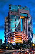 The Waikiki Landmark Building on Kalakaua Avenue.