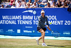 LIVERPOOL, ENGLAND - Sunday, June 24, 2018: Vera Zvonareva (RUS) during the doubles match on day four of the Williams BMW Liverpool International Tennis Tournament 2018 at Aigburth Cricket Club. (Pic by Paul Greenwood/Propaganda)