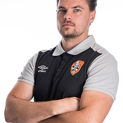 BRISBANE, AUSTRALIA - NOVEMBER 10: Drew Sherman of the Roar poses for a photo during the Brisbane Roar Youth headshot session at QUT Kelvin Grove on November 10, 2017 in Brisbane, Australia. (Photo by Patrick Kearney / Brisbane Roar)