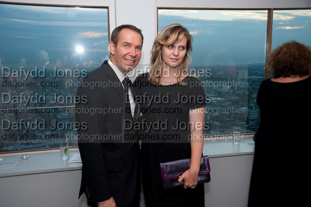 JUSTINE KOONS; JEFF KOONS, Dinner hosted by Julia Peyton-Jones and Hans Obrist for the Council of the Serpentine to celebrate: Jeff Koons, Popeye Series. Paramount Club, Paramount Centre Point. London. 30 June 2009