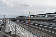 April 1, 2016; Indianapolis, Ind.; A general view of the track at the Indianapolis Motor Speedway during the Women's Final Four Salute.