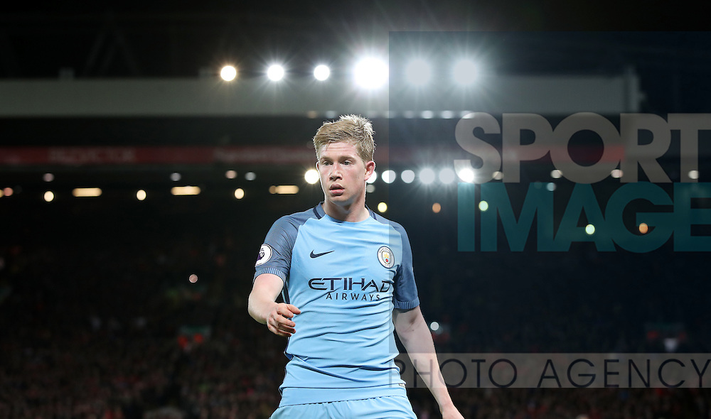 Kevin De Bruyne of Manchester City during the English Premier League match at Anfield Stadium, Liverpool. Picture date: December 31st, 2016. Photo credit should read: Lynne Cameron/Sportimage