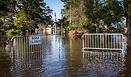 Trinity United Methodist Church, in Conway, S.C., is seen overtaken by floodwaters. President Trump visited the church and Conway's neighborhoods before the flooding reached its peak.