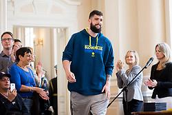 "Ziga Dimec during award ceremony ""Zlati red za zasluge"" for Basketball association of Slovenia on the day of statehood in the presidential palace, on June 25, 2018 in Ljubljana, Slovenia. Photo by Urban Urbanc / Sportida"
