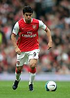 Photo: Tom Dulat.<br /> Arsenal v Bolton Wanderers. The FA Barclays Premiership. 20/10/2007.<br /> Eduardo of Arsenal with the ball.