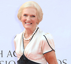 © Licensed to London News Pictures. 18/05/2014, UK. Mary Berry, Arqiva British Academy Television Awards - BAFTA, Theatre Royal Drury Lane, London UK, 18 May 2014. Photo credit : Richard Goldschmidt/Piqtured/LNP