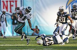 SAN DIEGO, CA - NOVEMBER 15: Jason Avant of the Philadelphia Eagles during a game against the San Diego Chargers on November 14, 2009 at Qualcomm Stadium in San Diego, California. The Chargers won 31-23. (Photo by Hunter Martin)