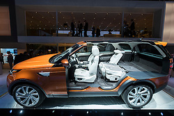 Cut-away model of new Land Rover Discovery at Paris Motor Show 2016