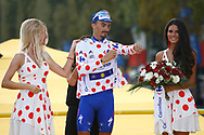 Podium, Julian Alaphilippe (FRA - QuickStep - Floors) Polka dots jersey, during the 105th Tour de France 2018, Stage 21, Houilles - Paris Champs-Elysees (115 km) on July 29th, 2018 - Photo Luca Bettini / BettiniPhoto / ProSportsImages / DPPI