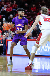 NORMAL, IL - January 05: K.J. Riley defended by Matt Chastain during a college basketball game between the ISU Redbirds and the University of Evansville Purple Aces on January 05 2019 at Redbird Arena in Normal, IL. (Photo by Alan Look)