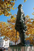 Statue of Joao Afonso de Aveiro 15th century Portuguese Navigator, Aveiro, Portugal