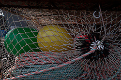Nets and Buoys, St. Herman Harbor, Kodiak Island, Alaska, US